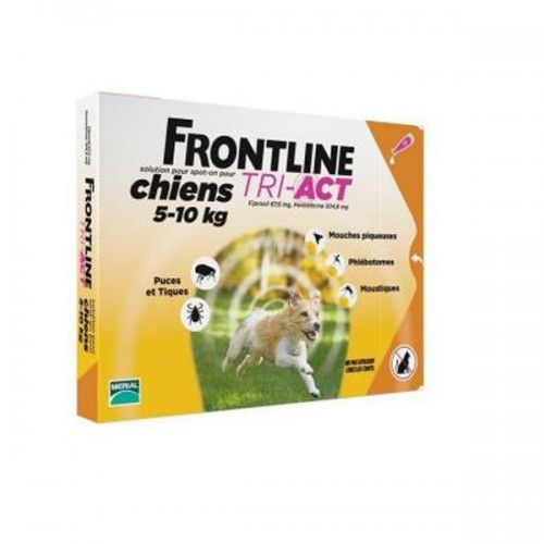 Frontline tri-act 3 pipetas para perros protección total 5-10 kg