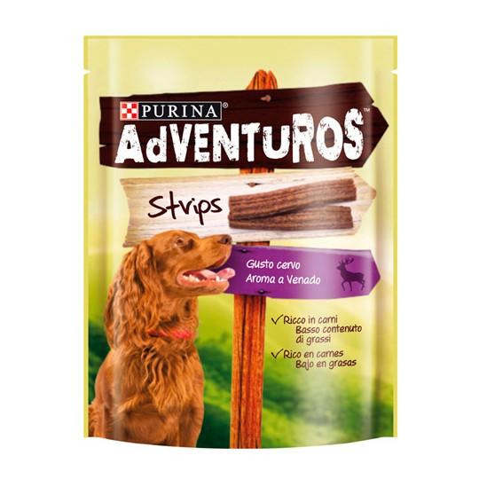 Purina Adventuros Strips tiras con aroma a Venado 90 gr.