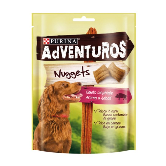Purina Adventuros Nuggets con aroma a Jabali 90 gr.