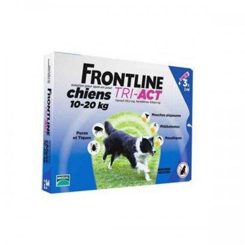 Frontline tri-act 3 pipetas para perros protección total 10-20 kg