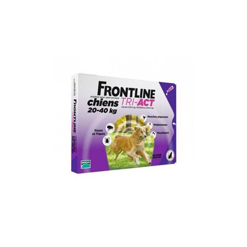 Frontline tri-act 6 pipetas para perros protección total 20-40 kg