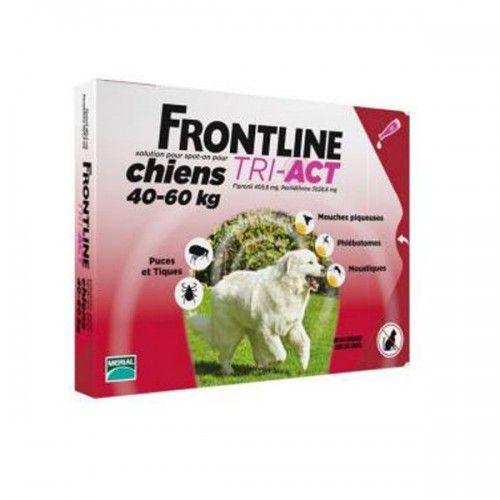 Frontline tri-act 3 pipetas para perros protección total 40-60 kg
