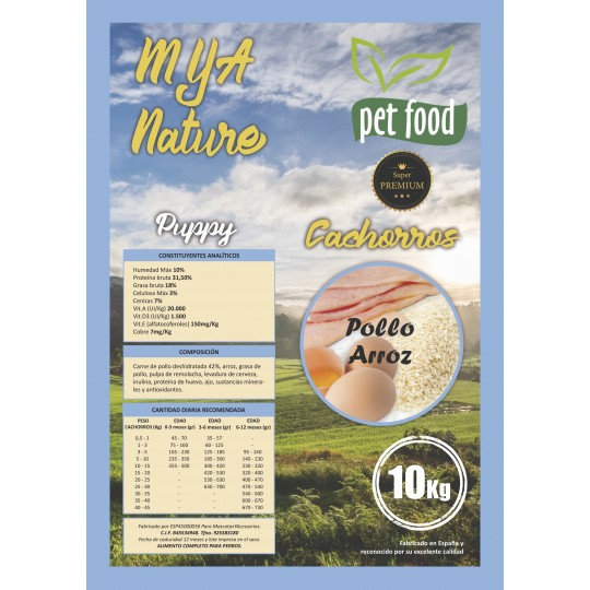 MyA Pienso Super Premium Nature Cachorros 10 Kg