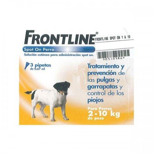 Frontline spot on 2 a 10 kg 3 pipetas