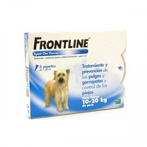 Frontline spot on 10 a 20 kg 3 pipetas