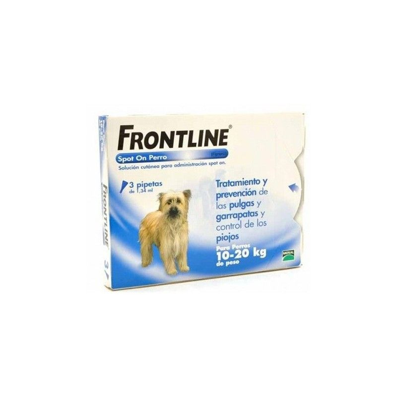 Merial Frontline spot on 10 a 20 kg 3 pipetas