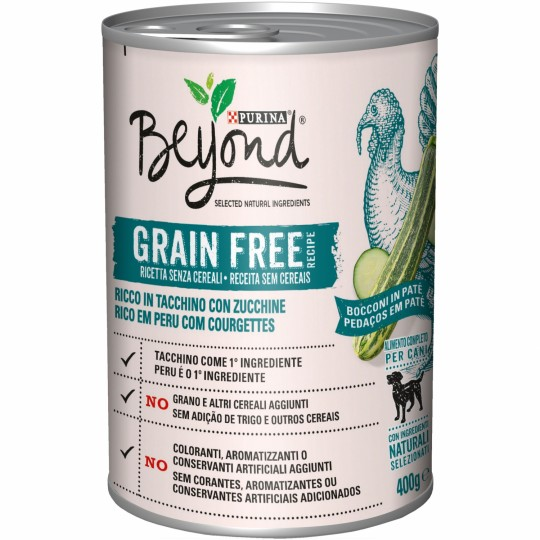 Purina Beyond Grain Free Perro Pavo 400 Gr