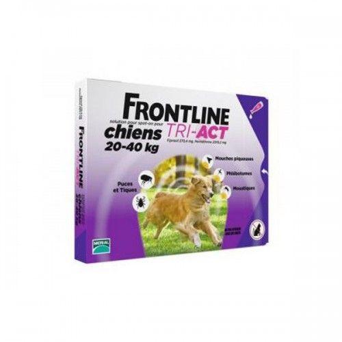 Frontline tri-act 3 pipetas para perros protección total 20-40 kg