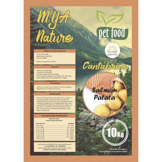 MyA Sin Cereal Nature Cantábrico. Pack 50 kilos. 4 sacos + 1 saco de regalo.