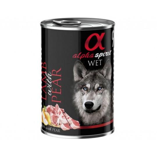 Alpha Spirit Cordero con Pera para Perros 400gr