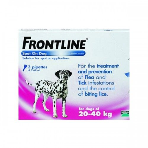 Frontline spot on 20 a 40 kg 3 pipetas