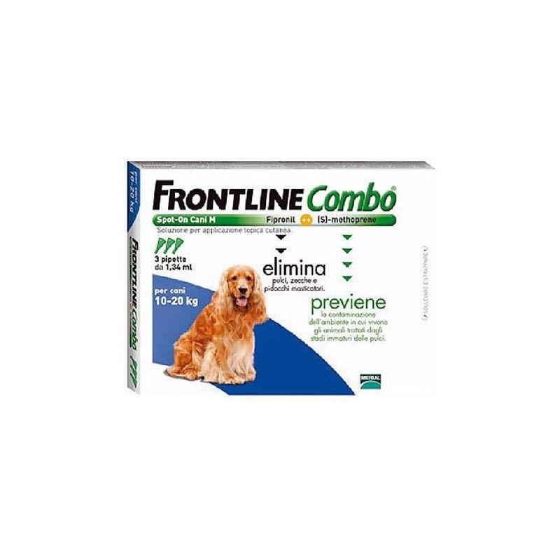 Merial Frontline combo spot on perros 10-20 kg 3 pipetas