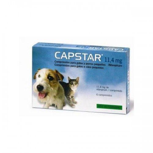 Capstar 11,45 mg perros pequeños y gatos 6 comprimidos