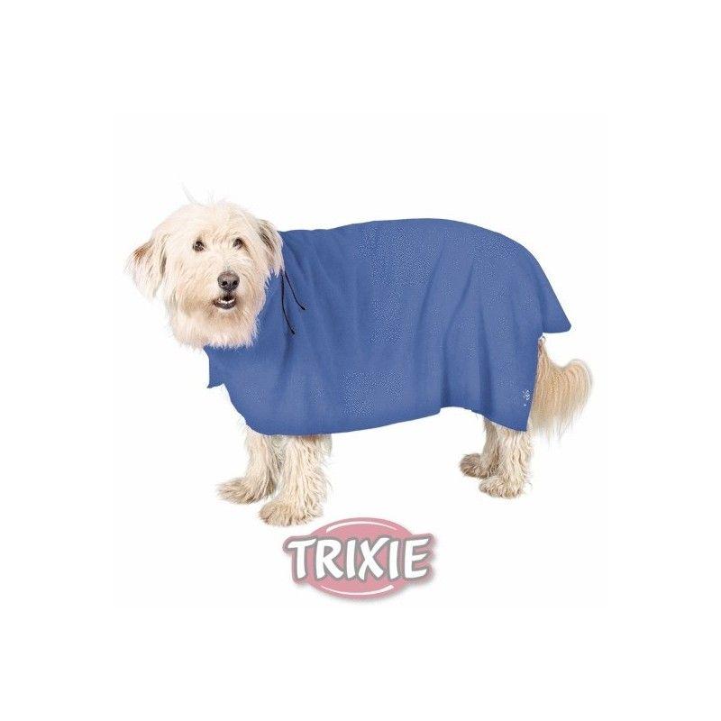 Albornoz perros, l, microfibra, 60 cm, azul