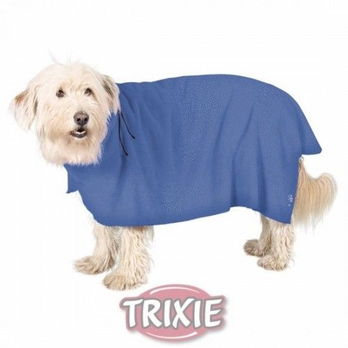 Albornoz perros, xl, microfibra, 75 cm, azul