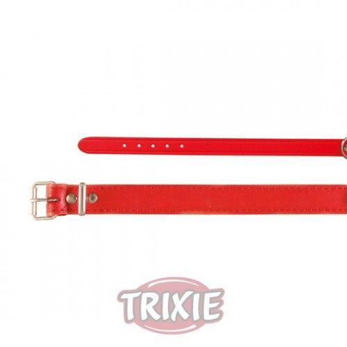 Trixie collar basic, piel m, 37-43cm,18mm rojo
