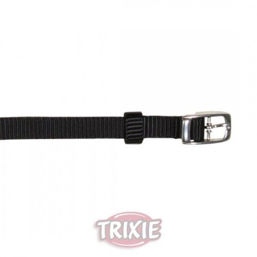 Trixie collar premium, s-m, 24-40 cm, 20 mm, negro