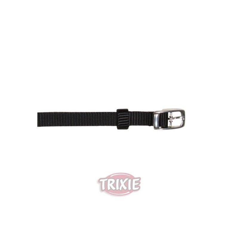 Trixie collar premium, s-m, 24-40 cm, 20 mm, negro