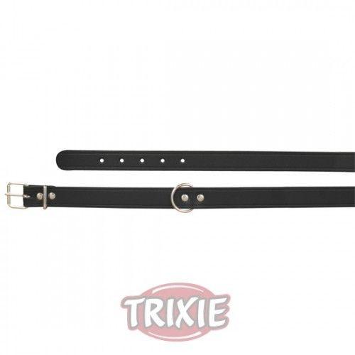 Trixie collar basic, piel s-m, 33-39cm,16mm negro