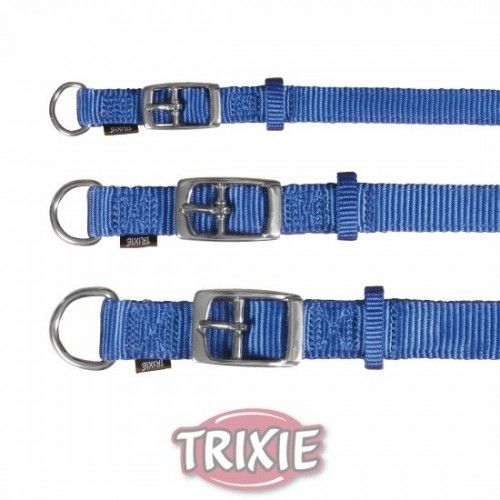 Trixie collar premium, s-m, 24-40 cm, 20 mm, azul