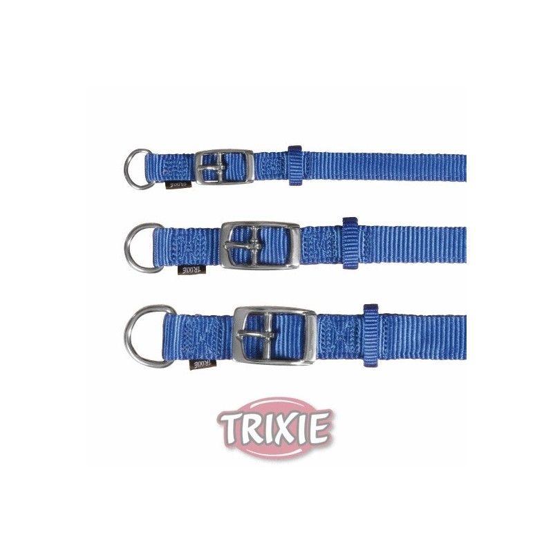 Trixie collar premium, s-m, 24-40 cm, 20 mm, azul