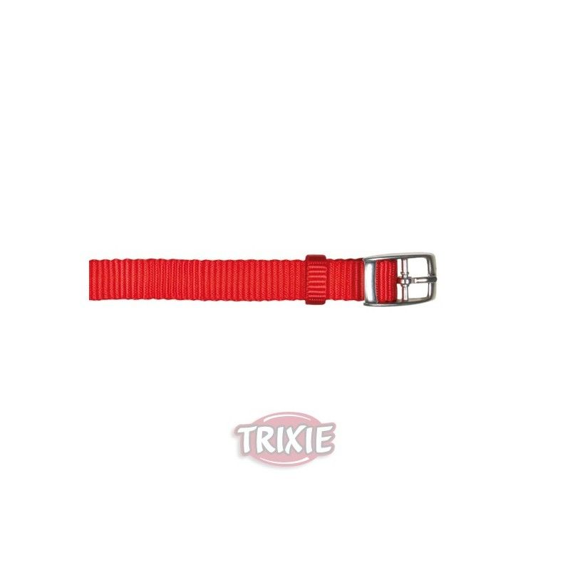 Trixie collar premium, s-m, 24-40 cm, 20 mm, rojo