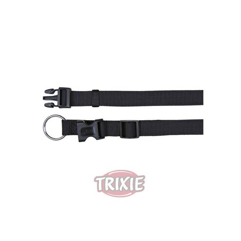 Trixie collar classic, s-m, 30-45cm/15mm, negro
