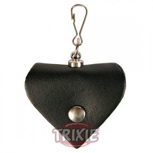 Trixie Portadirecciones corazón, piel, negro