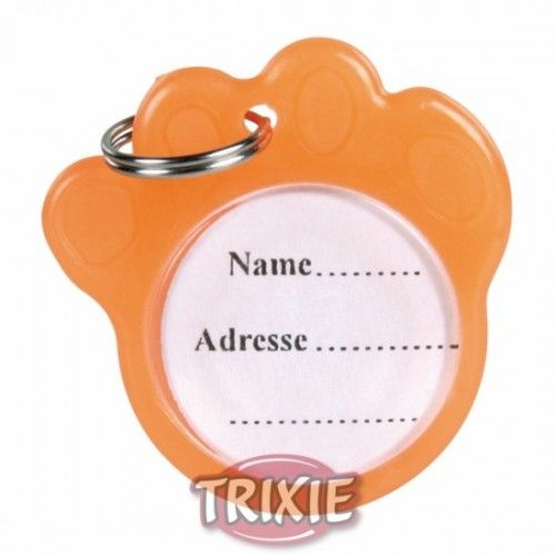 Trixie Placa identificativa, forma huella, fluorescente