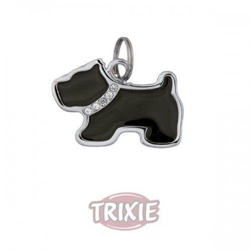 Trixie Placa identificante, forma perro, 3525 mm