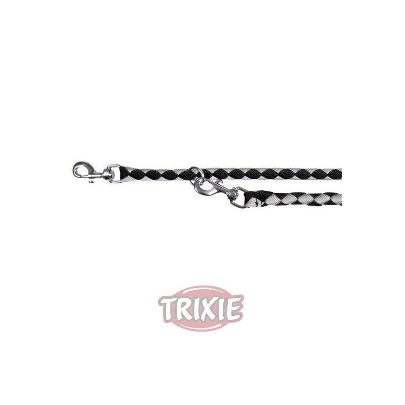 Trixie ramal nylon cavo, s-m, 2 m/ø 12mm negro y plata