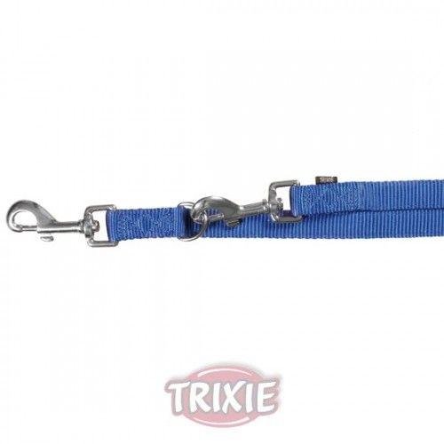 Trixie ramal naylon premium ajustable xs-s, 2.00 m,15 mm, azul