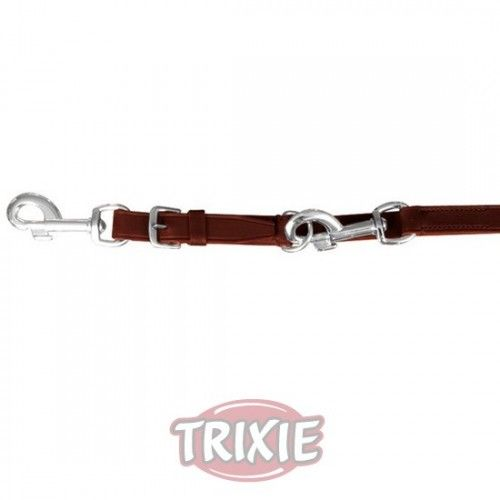 Trixie ramal active, doble, l-xl: 2.00 m, 22 mm, coñac
