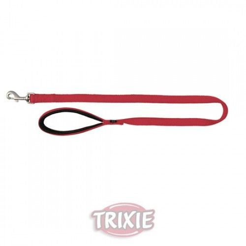 Trixie correa nylon premium, doble, xs-s: 1.00 m,25 mm, rojo