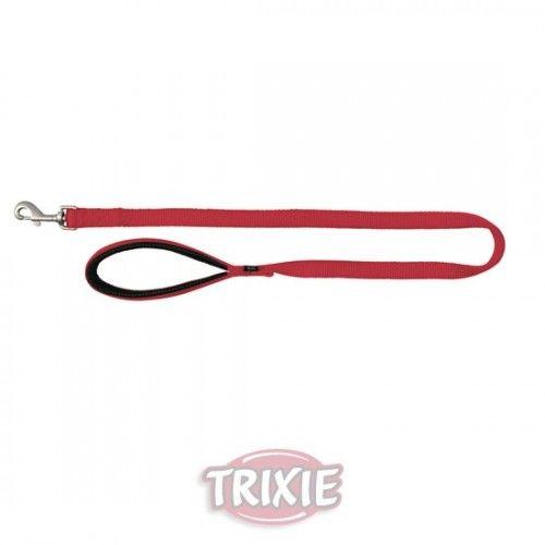 Trixie correa nylon premium, doble, m-l: 1.00 m,25 mm, rojo