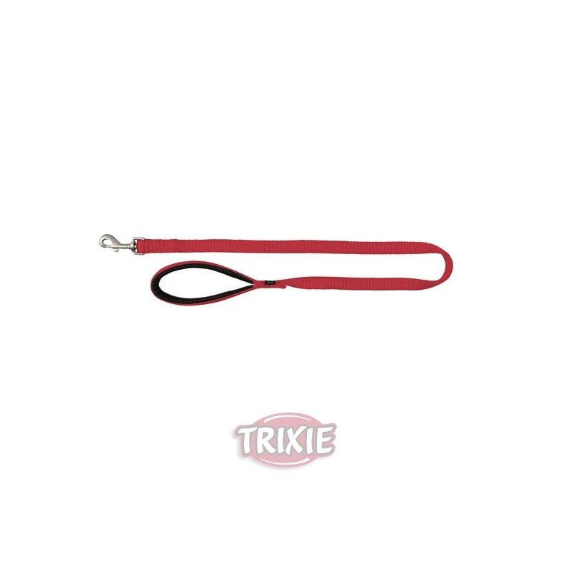 Trixie correa nylon premium, doble, l-xl: 1.00 m,25 mm, rojo
