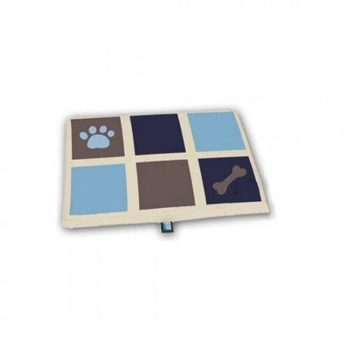 Cama rectangular bruselas soft azul grande