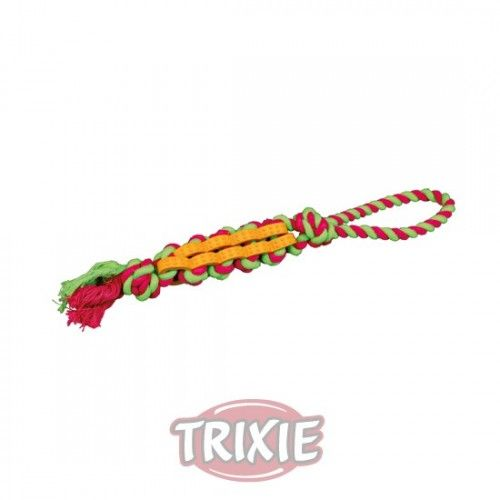 Trixie hueso caucho natural cuerda fluorescente 11 cm