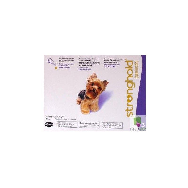 Zoetis Stronghold perros de 2,6 a 5 kg 6 pipetas. Caducidad septiembre 2018