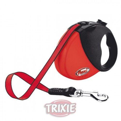 Trixie Flexi mini comfort compact, hasta 12 kg. rojo