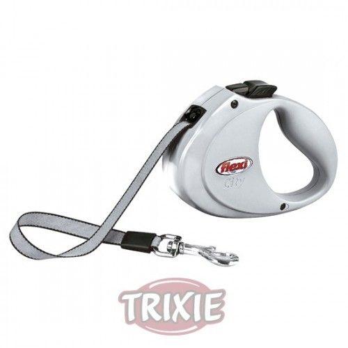 Trixie Flexi city, hasta 35 kg, gris claro