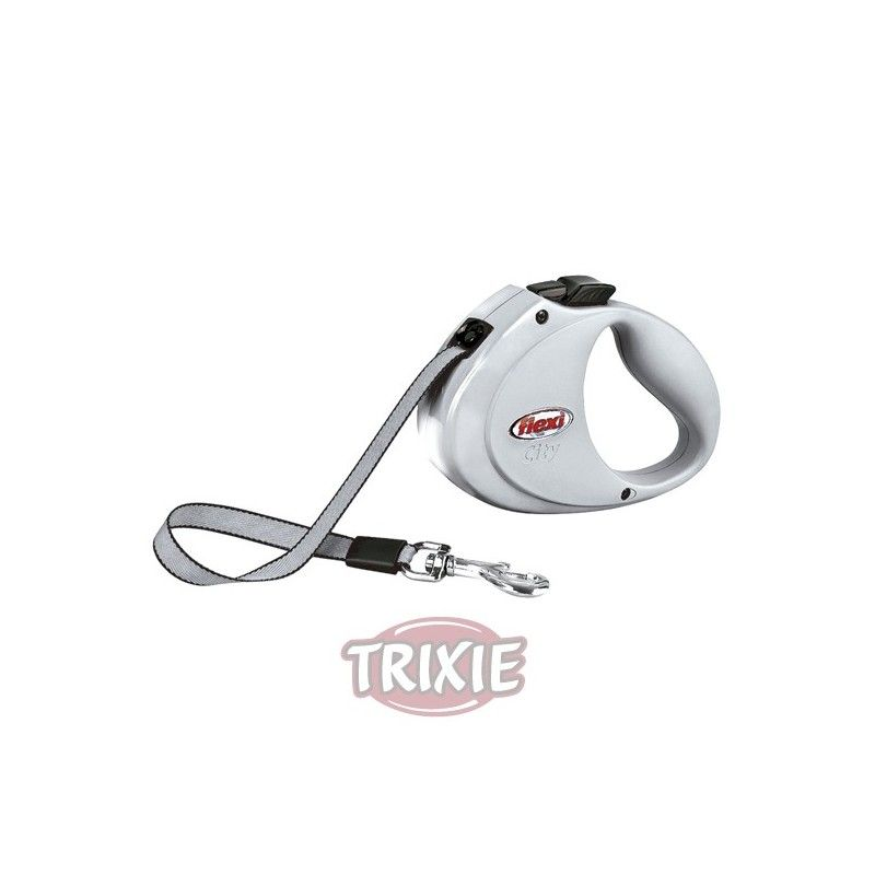 Trixie Flexi city, hasta 35 kg, gris claro